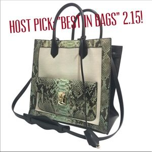 All Afternoon Python Tote Bag, full size